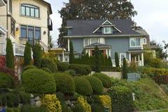 Hogares residenciales en Seattle WA. Foto de archivo libre de regalías