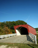 Hogback Covered Bridge in Madison County 3. Picturesque Covered Bridge in Madison County Iowa Stock Photo