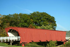 Hogback Covered Bridge in Madison County 5. Picturesque Covered Bridge in Madison County Iowa Stock Photos