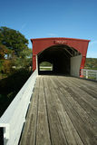 Hogback Covered Bridge in Madison County Royalty Free Stock Photography