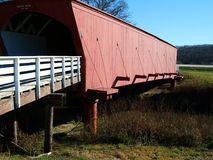 Hogback Covered Bridge, Madison County, Iowa. A side detailed view of Hogback covered bridge, in Madison County, Iowa stock image