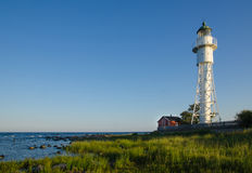 Hogby lighthouse by the coast of Baltic Sea in Sweden Royalty Free Stock Photos