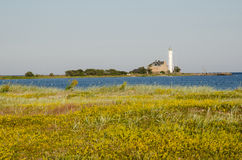 Hogby lighthouse at the swedish island Oland Stock Photo
