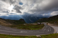Hoge Alpiene Weg Royalty-vrije Stock Foto