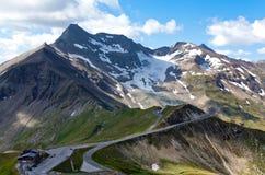 Hoge Alpiene Weg - Grossglocnkner Stock Afbeelding
