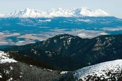 Hoge bergen Tatras Royalty-vrije Stock Foto