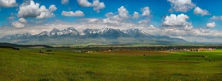 Hoge bergen Tatras in Slowakije stock afbeelding