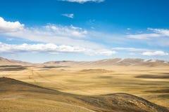 Hoge bergheuvels Royalty-vrije Stock Afbeeldingen
