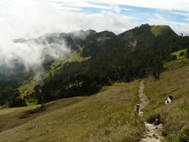Hoge Bergweg -- Centraal Taiwan royalty-vrije stock fotografie