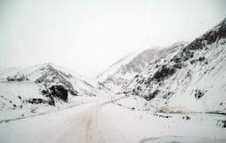 Hoge bergwegen in de Andes Royalty-vrije Stock Foto's