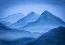 Hoge blauwe bergen Royalty-vrije Stock Afbeelding