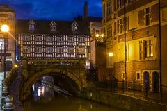 Hoge Brug in Lincoln, het UK royalty-vrije stock afbeelding