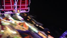 Hoge carrousel in de lucht video stock footage