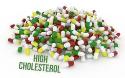 Hoge cholesBunch van capsules Stock Fotografie