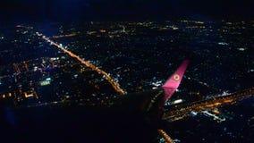 Hoge cityscape van de hoekmening van Bangkok stock videobeelden