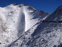 Hoge de bergpas van Khardungla 5359 m A S L in Ladakh-gebied, India stock foto