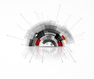 Hoge de computertechnologiezaken van wetenschaps futuristische Internet Stock Fotografie