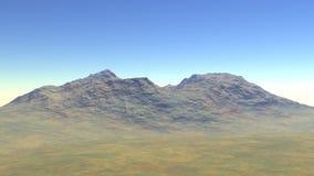 Hoge die heuvels met rotsen worden behandeld Royalty-vrije Stock Afbeelding