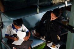 Hoge druk van Indische studenten Royalty-vrije Stock Afbeeldingen