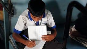 Hoge druk van Indische studenten Stock Foto