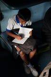 Hoge druk van Indische studenten stock afbeelding