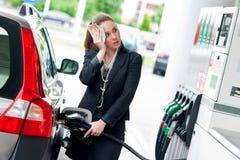 Hoge gasprijs stock foto's