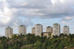Hoge gebouwen Stock Foto