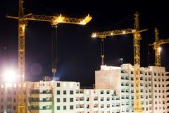 Hoge gebouwen in aanbouw Royalty-vrije Stock Fotografie