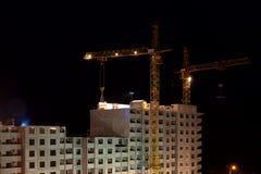 Hoge gebouwen in aanbouw Royalty-vrije Stock Afbeeldingen