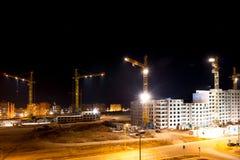 Hoge gebouwen in aanbouw Stock Afbeelding