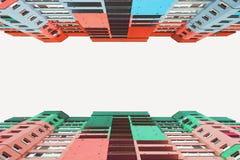 Hoge gebouwen van de stad Stock Foto