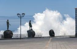 Hoge golven van de Atlantische Oceaan Royalty-vrije Stock Foto