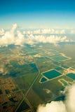 Lucht mening van Miami Stock Afbeeldingen