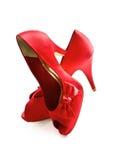 Hoge het rood hielt Schoenen Royalty-vrije Stock Foto