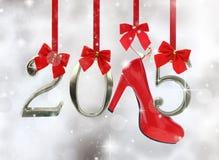 Hoge hielschoen en 2015 Stock Afbeelding
