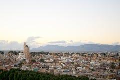 Hoge hoekmening bij de stad van Nicosia. Royalty-vrije Stock Fotografie
