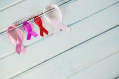 Hoge hoekmening van de linten van de Kankervoorlichting Stock Afbeelding