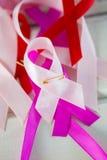 Hoge hoekmening van diverse linten van de Kankervoorlichting Royalty-vrije Stock Afbeelding