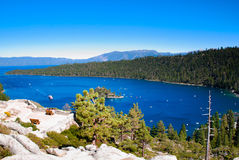 Hoge hoekmening van Meer Tahoe stock foto's