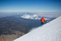 Hoge hoogte die in Mexico ski?en stock afbeelding