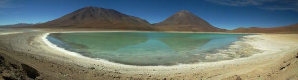 Hoge hoogtemeer in Uyuni, Bolivië Royalty-vrije Stock Afbeelding