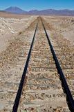 Hoge hoogtespoorweg Royalty-vrije Stock Foto's