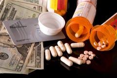Hoge kosten van drugs stock fotografie