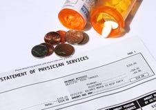 Hoge kosten van medische behandeling stock fotografie