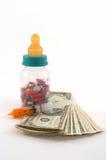 Hoge kosten van medische rekeningen voor kinderen stock foto's