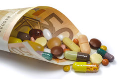 Hoge kosten voor geneeskunde Royalty-vrije Stock Fotografie