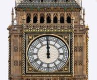 Hoge Middag - de Big Ben, Londen, middernacht, middag Royalty-vrije Stock Foto's