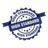 Hoge normzegel teken insignia Stock Foto