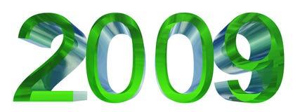 Hoge resolutie 3D tekst met 2009 Royalty-vrije Stock Afbeelding