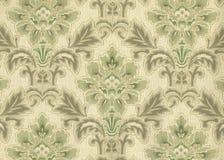 Hoge resolutie antiek behang met bloemenpatroon Stock Afbeeldingen